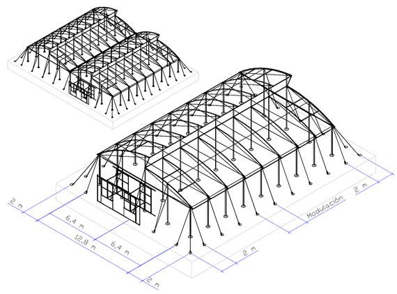 Invernadero tropical for Vivero estructura