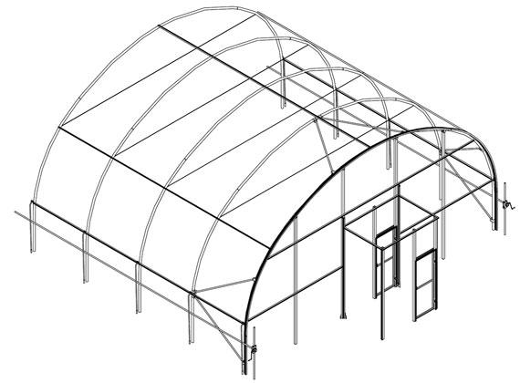 high tunel estructura